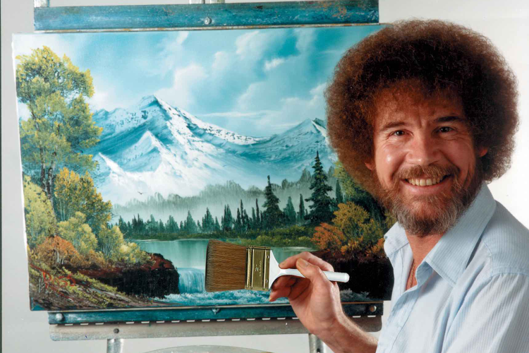 Bob Ross Is Finally Getting a Solo Exhibit
