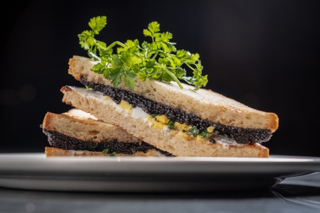 caviar sandwich barn steakhouse chicago