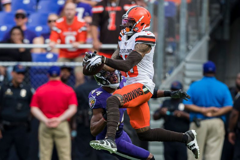 """Cleveland Coach Says Odell Beckham Was """"Choked"""" During Win"""
