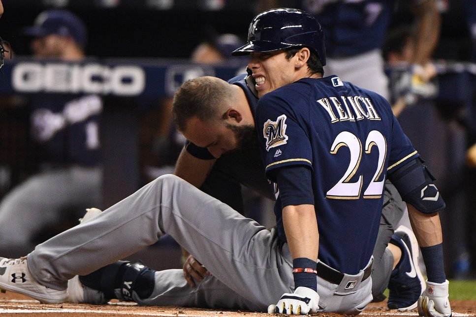 Christian Yelich Out for Year After Fouling Ball Off Knee