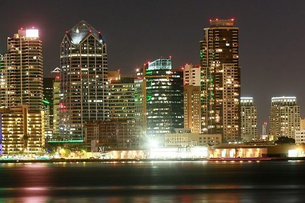The downtown skyline of San Diego