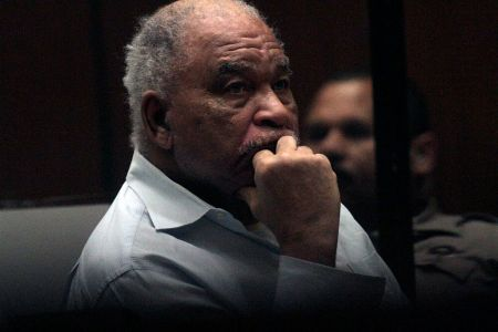 Samuel Little, who was indicted on charges that he murdered three women in Los Angeles in the 1980s, listens to opening statements as his trial begins on AUGUST 18, 2014.  (Photo by Bob Chamberlin/Los Angeles Times via Getty Images)