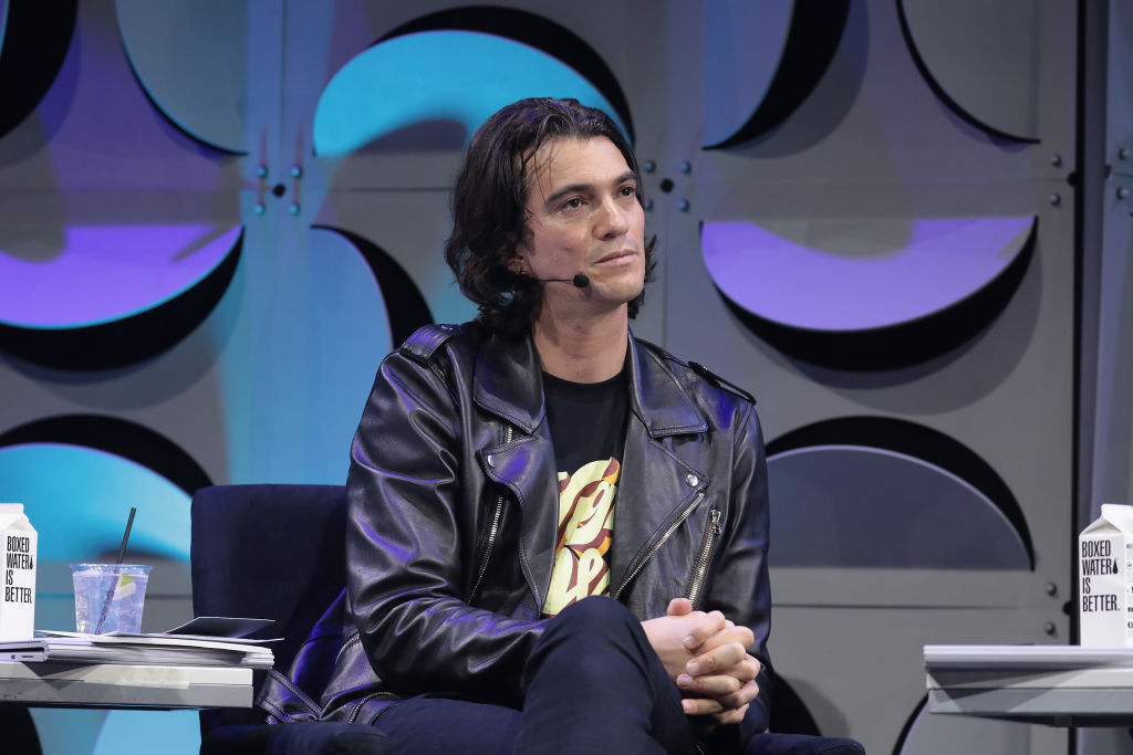 Co-founder and CEO of WeWork Adam Neumann appears on stage as WeWork presents Creator Awards Global Finals at the Theater At Madison Square Garden on January 17, 2018 in New York City.  (Photo by Cindy Ord/Getty Images for WeWork)