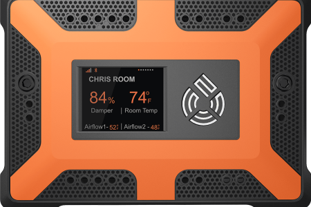 The 75F Smart Node, used to monitor and control heat pumps and other equipment to regulate temperature.