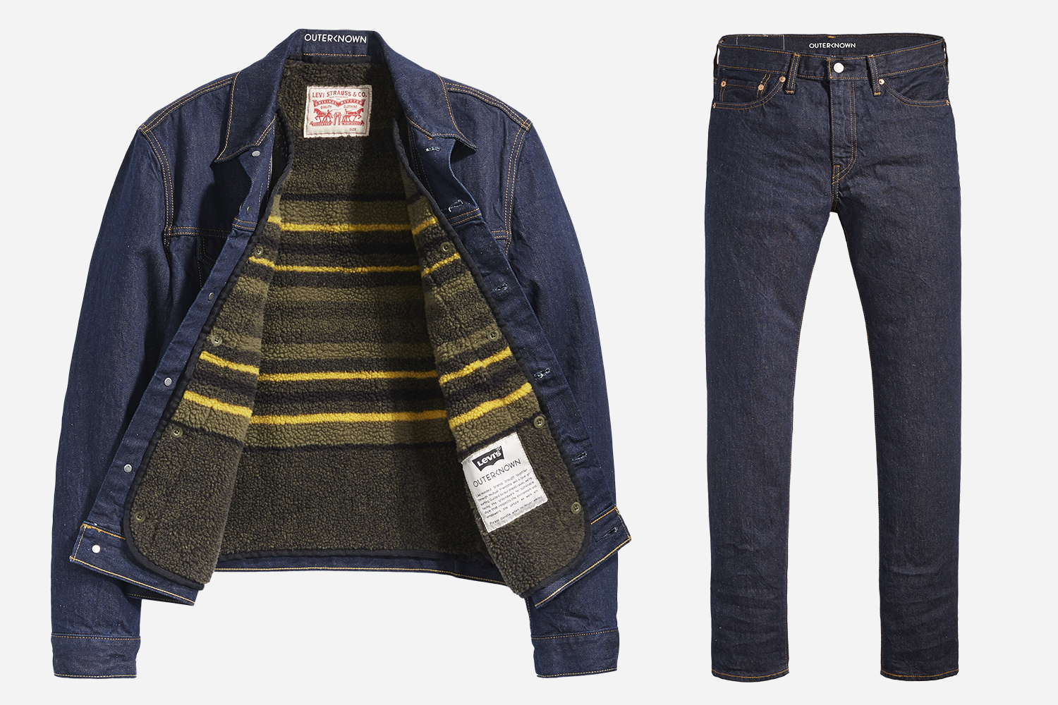 Levi's Wellthread x Outerknown Trucker Jacket and Denim Jeans