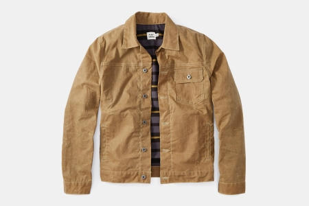 Huckberry Waxed Trucker Jacket