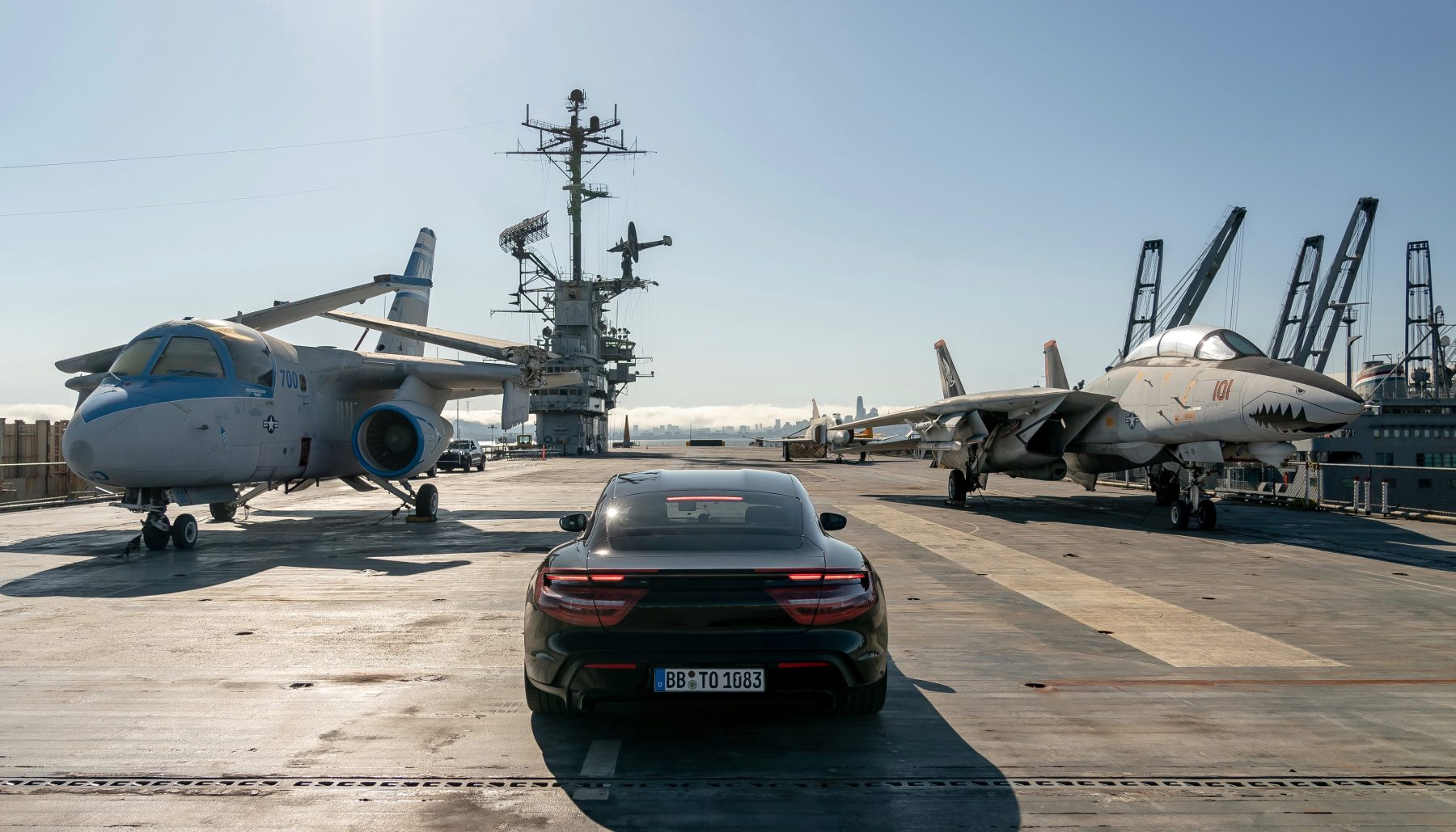 See an All-Electric Porsche Do 0-90-0 on an Aircraft Carrier