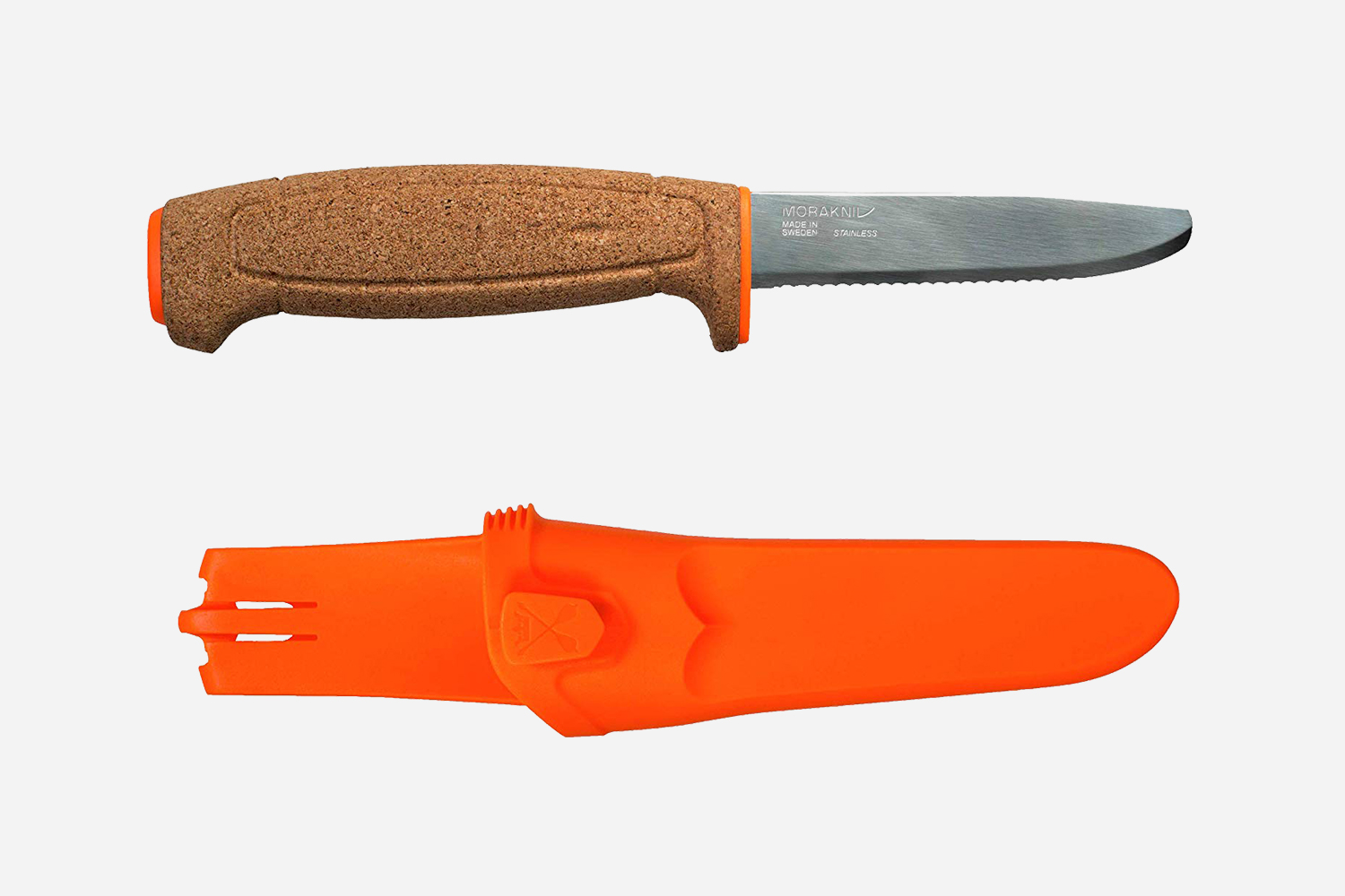 Morakniv Floating Fixed Blade Stainless Steel Serrated Knife on Amazon