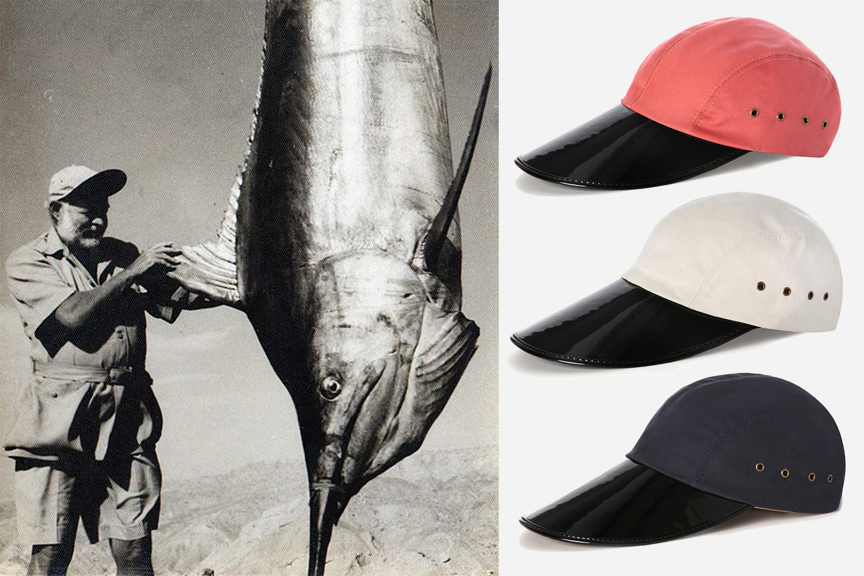 Ernest Hemingway Swordfish in the Quaker Marine Oysterman Hat