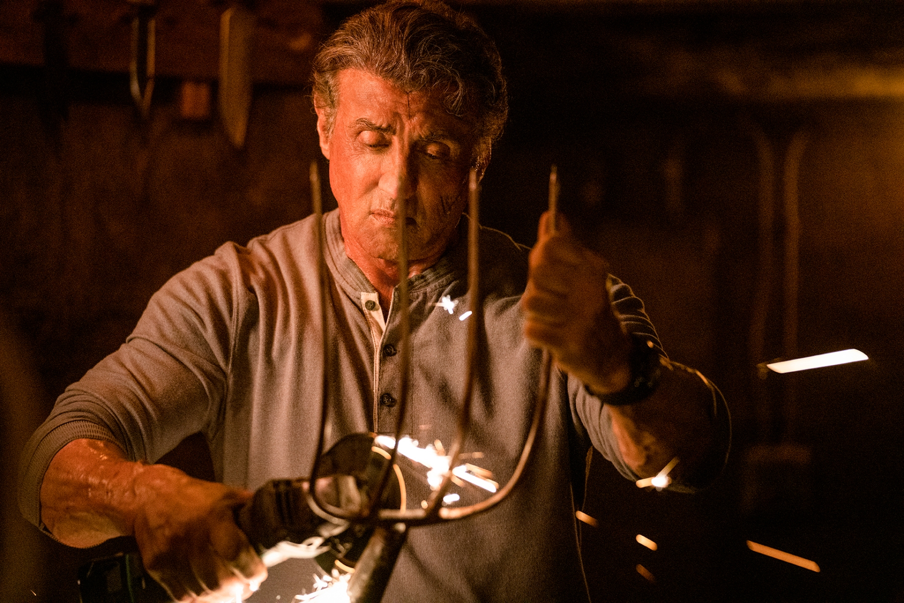 "Sylvester Stallone in ""Rambo: Last Blood."""