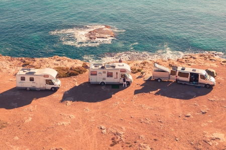 RVs on the Beach