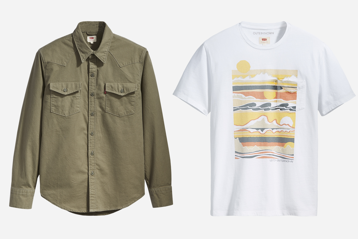 Levi's Wellthread x Outerknown Western Shirts and Pocket Tees