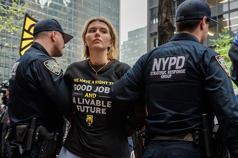 Sunrise Movement NYC Activist Arrested Outside Senator Chuck Schumer's Office