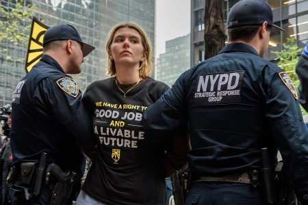 Sunrise Movement NYC Activist Arrested Outside Senator Chuck Schumer's Office