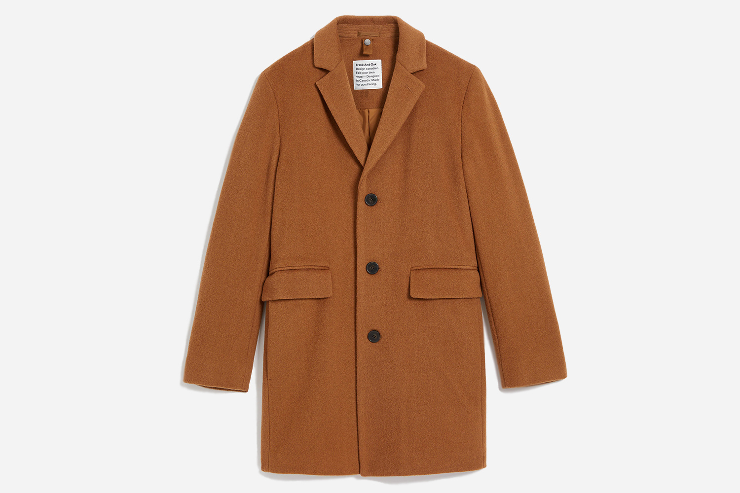 Frank And Oak Recycled Wool Lawrence Topcoat