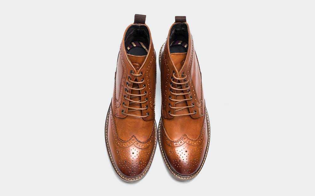 Black Brogue Detailing Boots Handmade Boot Men/'s Ankle High Black Brogue Boots