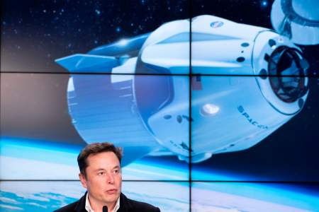 Elon Musk, Jeff Bezos and the race to own space. (Photo by Jim WATSON / AFP)        (Photo credit should read JIM WATSON/AFP/Getty Images)