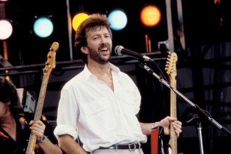 Eric Clapton's look was pretty hard to mess with. (Photo by KMazur/WireImage)