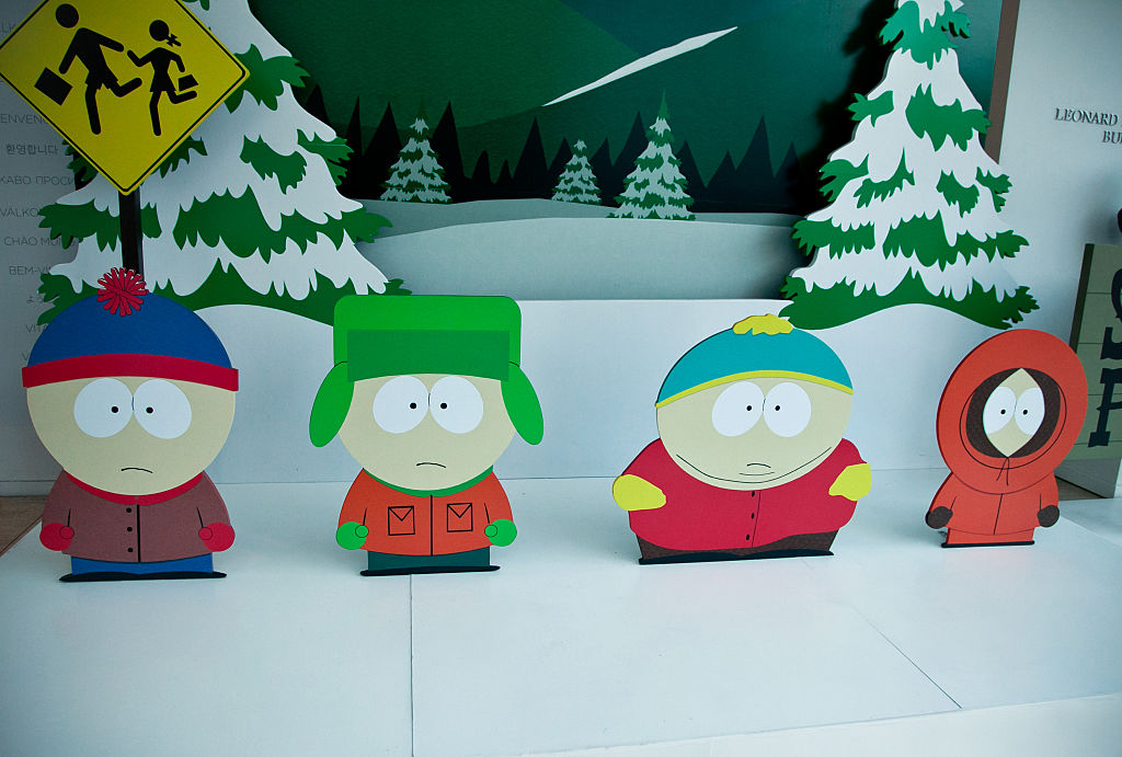 Stan Marsh, Kyle Broflovski, Eric Cartman and Kenny McCormick attend The Paley Center for Media presents special retrospective event honoring 20 seasons of 'South Park' at The Paley Center for Media on September 1, 2016 in Beverly Hills, California.  (Photo by Tibrina Hobson/Getty Images)