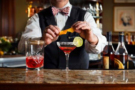 Round Robin, the historic bar located inside the Willard InterContinental Hotel.