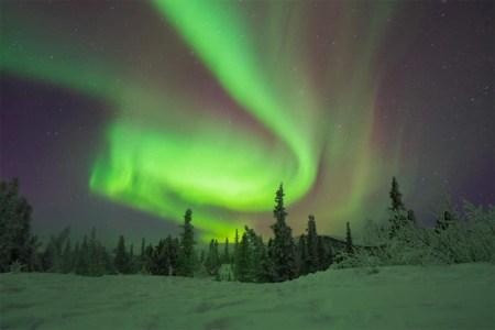 Aurora borealis at Chena Hot Springs Lodge