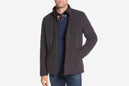Bowden Quilted Jacket in navy