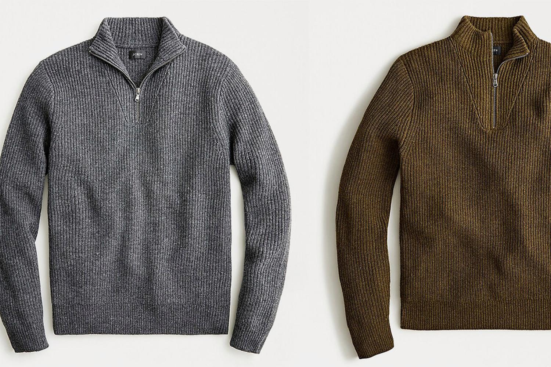 J.Crew Merino Wool Half-Zip
