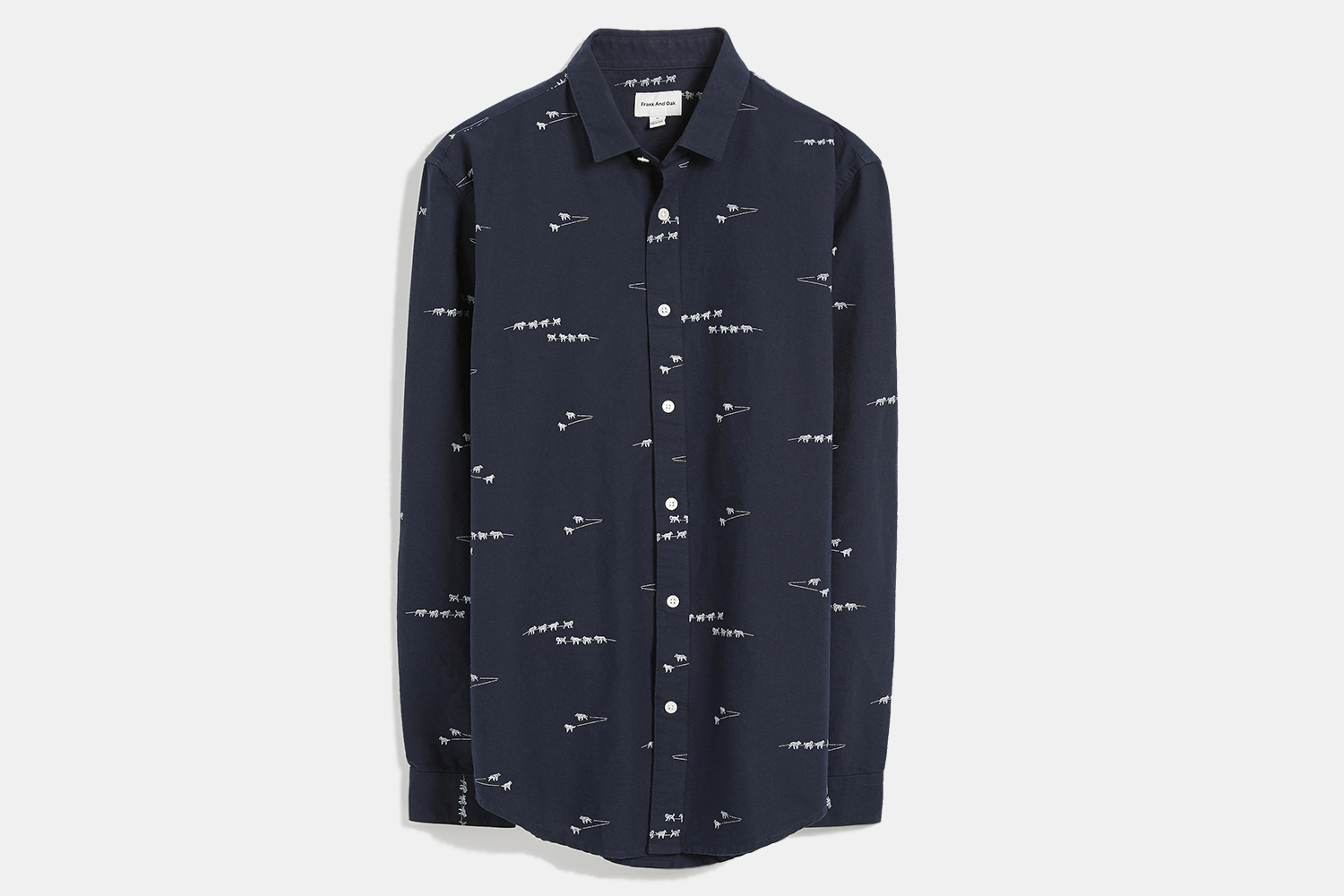 Frank And Oak Dogsled Print Oxford Shirt