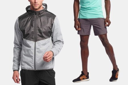 Rhone Tech Terry Hoodie and Guru Short