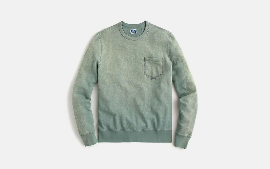 J.Crew Lightweight Sunwashed Crewneck Sweatshirt