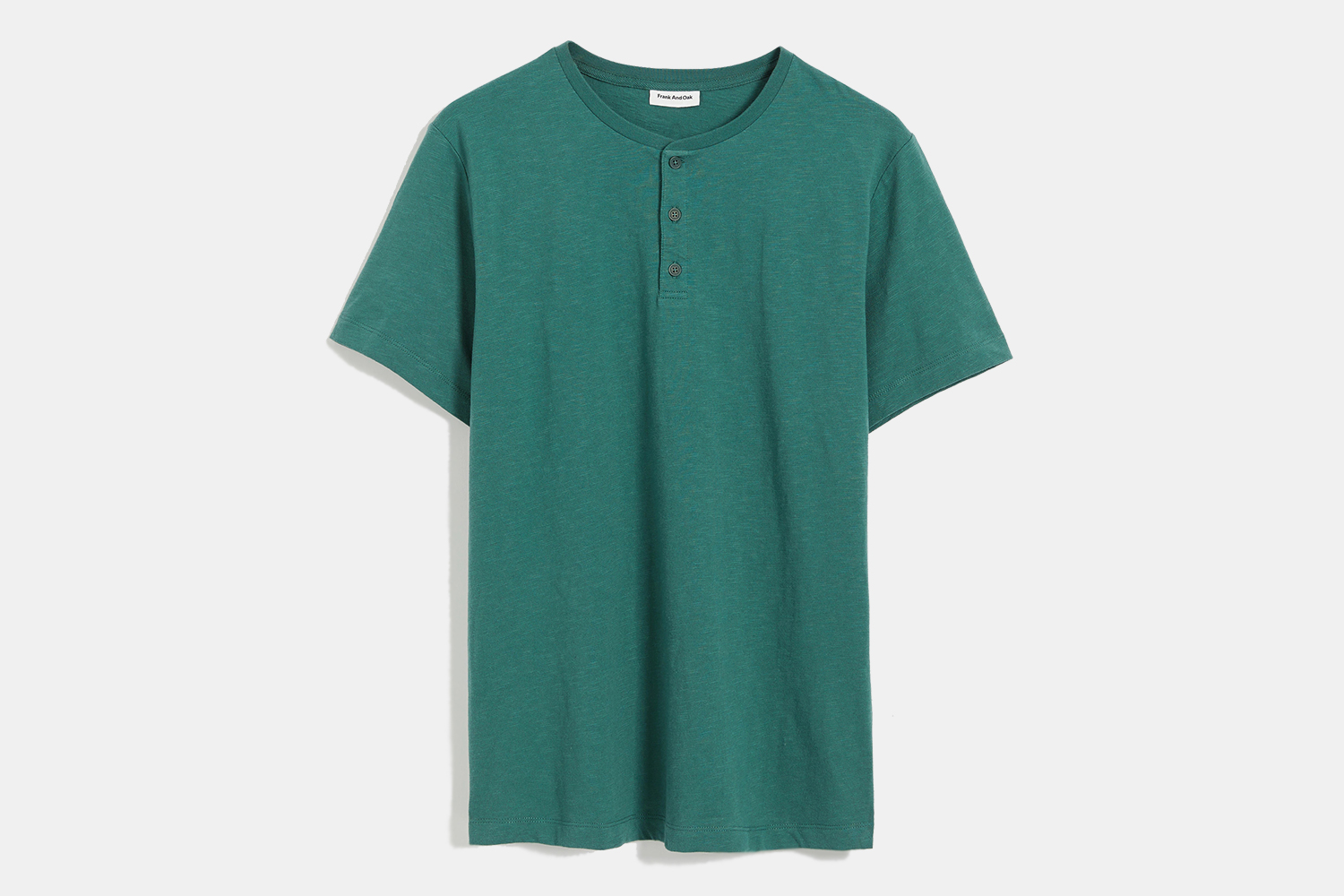Frank And Oak Recycled Cotton Henley Tee