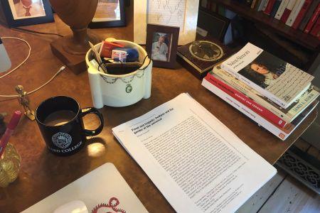Critic Daniel Mendelsohn's desk