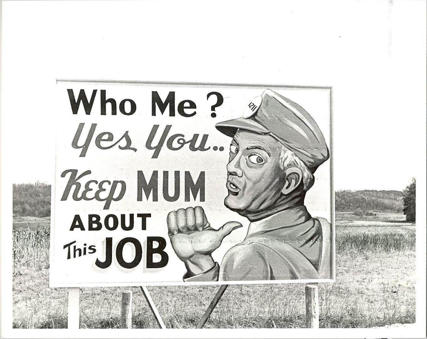 Manhattan Project sign