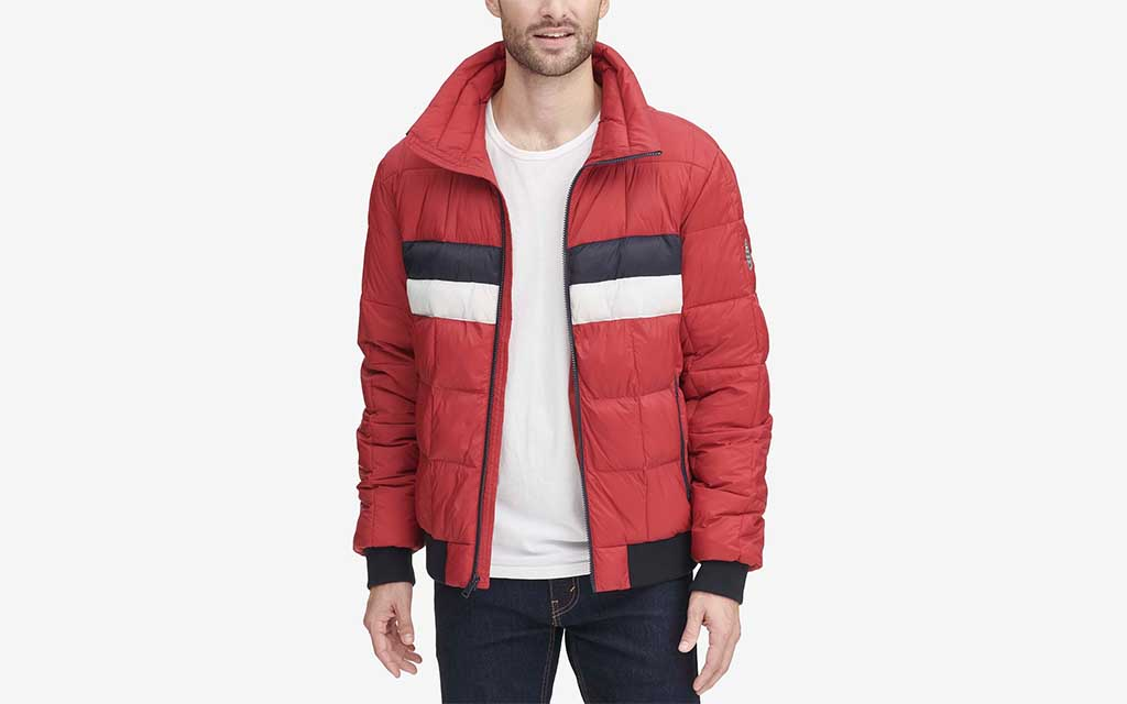 Tommy Hilfiger Colorblocked Quilted Puffer Jacket