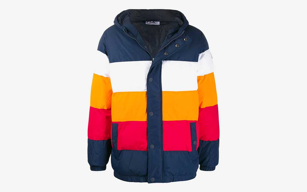 FILA Colour-Block Puffer Jacket