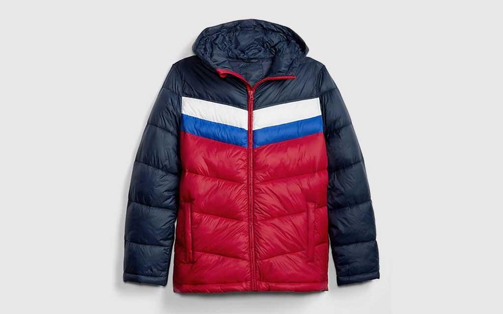 GAP Heavyweight Colorblock Puffer Jacket