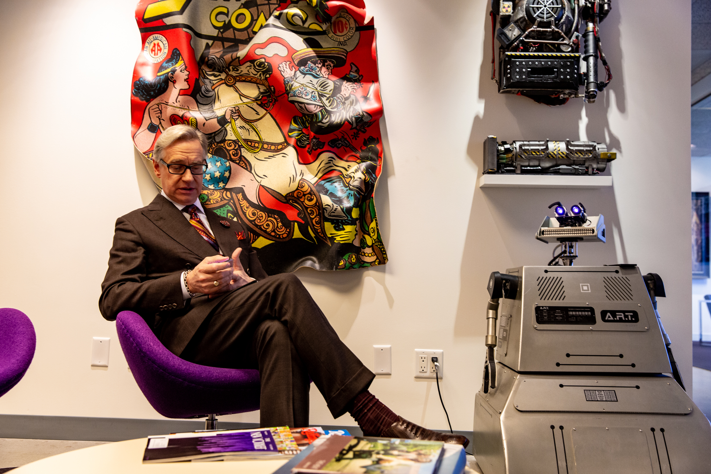 Paul Feig in his office