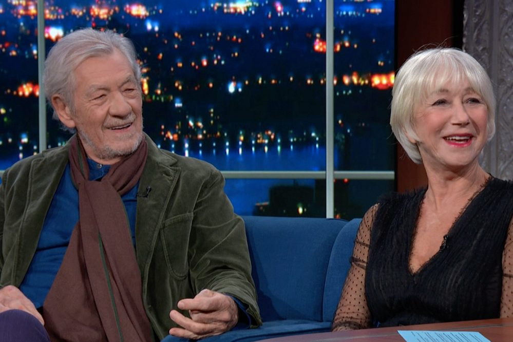 "Helen Mirren and Ian McKellen on ""Colbert"""
