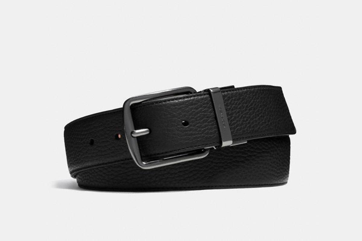 Coach Harness Buckle Reversible Belt