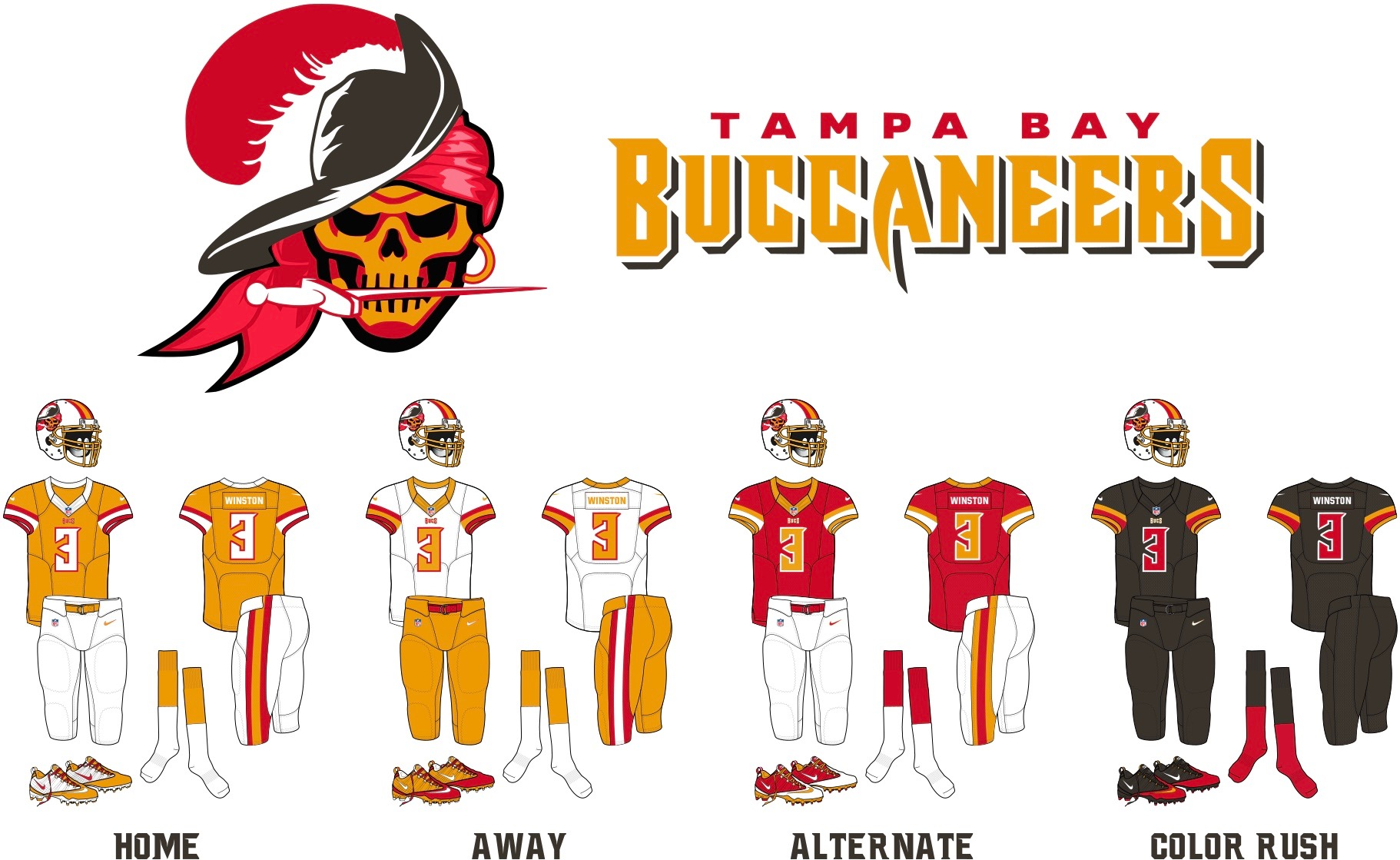 Dan Bodurtha Bucs Redesign Uni Watch