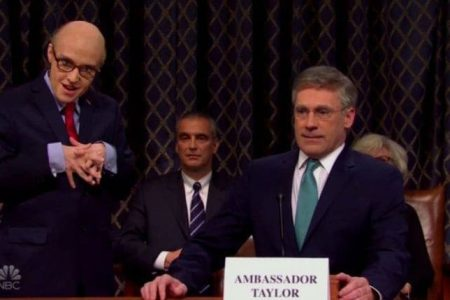 "Jon Hamm as Bill Taylor on ""Saturday Night Live"""