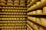 Casolet ripening room, traditional raw-milk cheese, Peio, Trentino-Alto Adige, Italy.