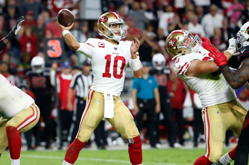 Jimmy Garoppolo Throws 4 Tds As 49ers Beat Cardinals To Stay
