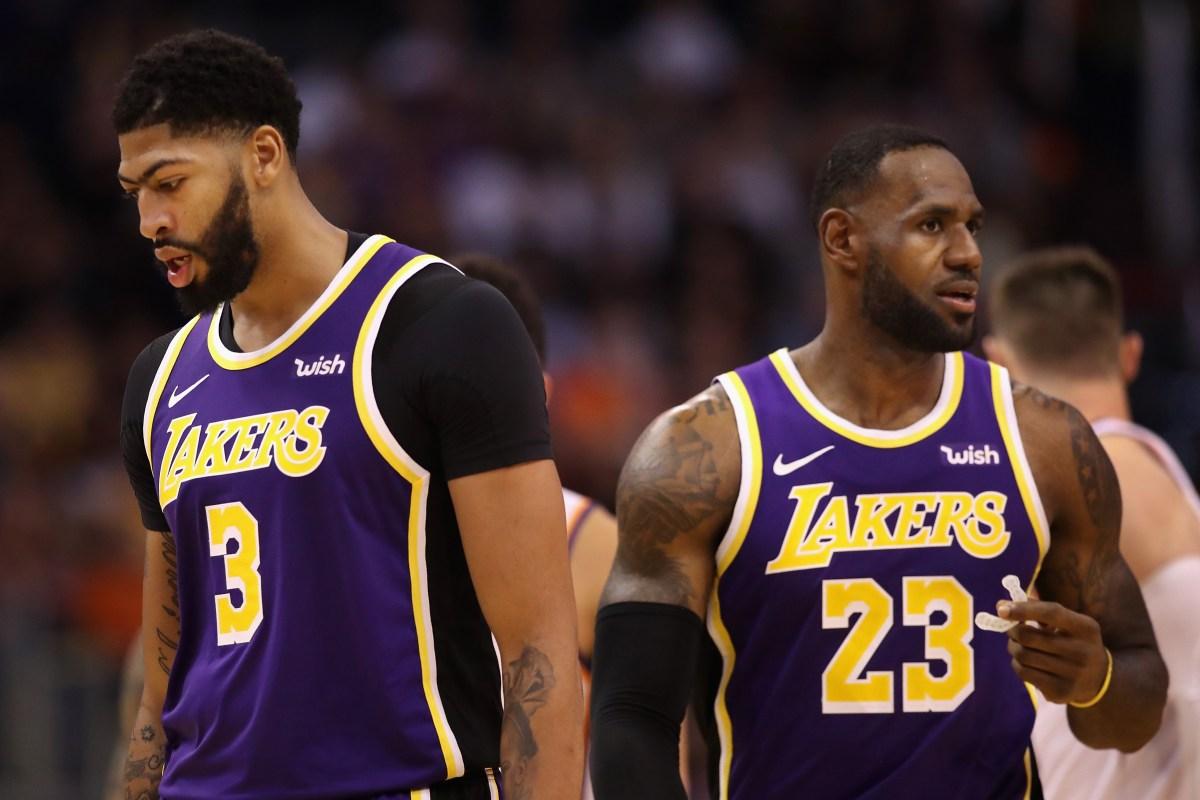 Anthony Davis, LeBron James LA Lakers forward center