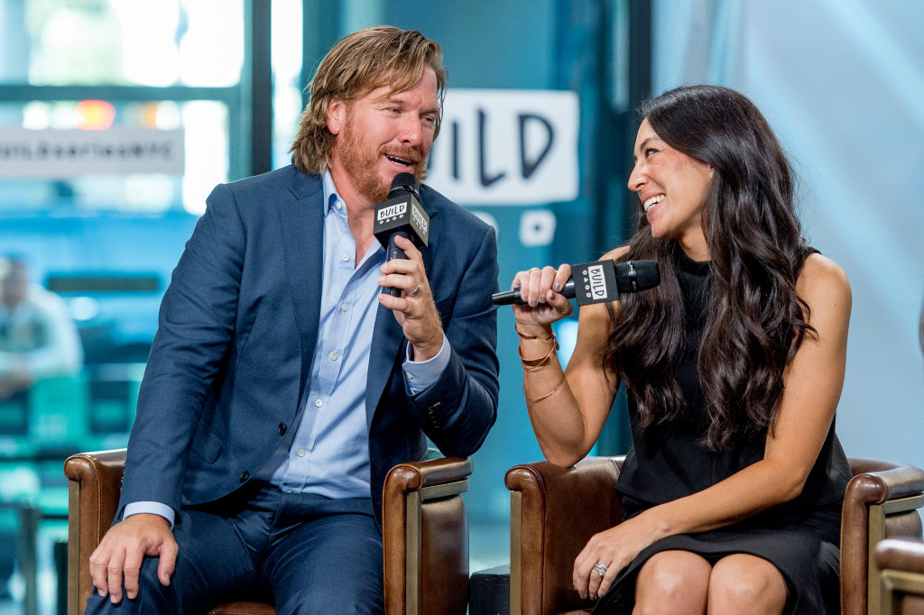 "Chip and Joanna Gaines discuss ""Capital Gaines: Smart Things I Learned Doing Stupid Stuff"" and the ending of the show ""Fixer Upper"" with the Build Series at Build Studio on October 18, 2017 in New York City.  (Photo by Roy Rochlin/FilmMagic)"