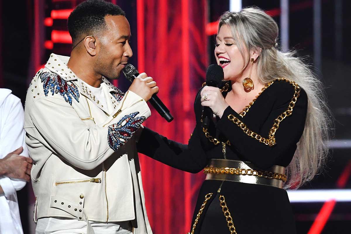 John Legend and Kelly Clarkson