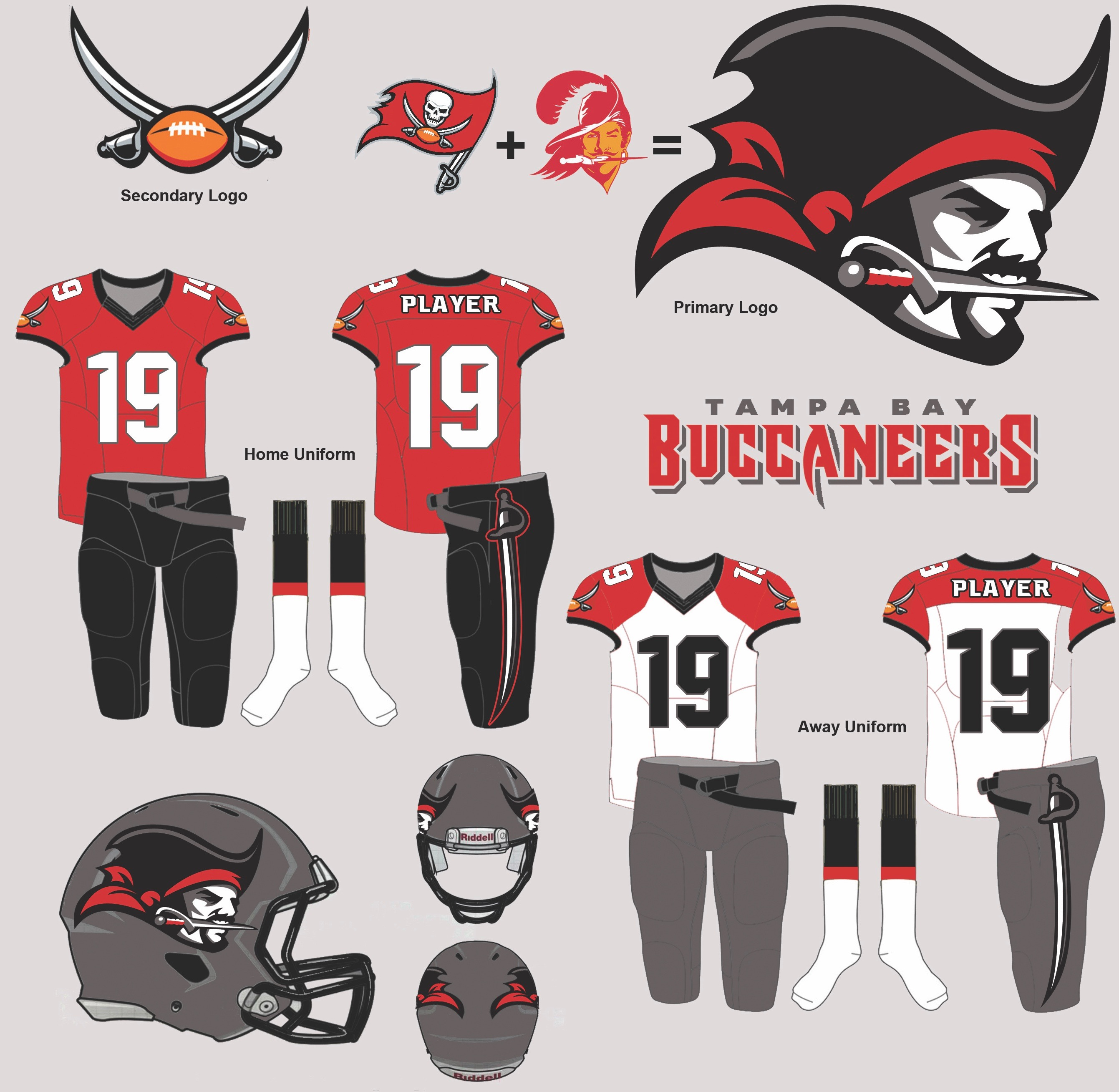 Results Uni Watch Readers Redesign The Buccaneers Uniforms Insidehook