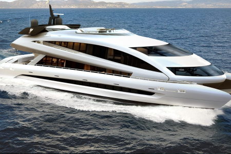 The Royal Falcon One yacht is for sale. (Studio F. A. Porsche)