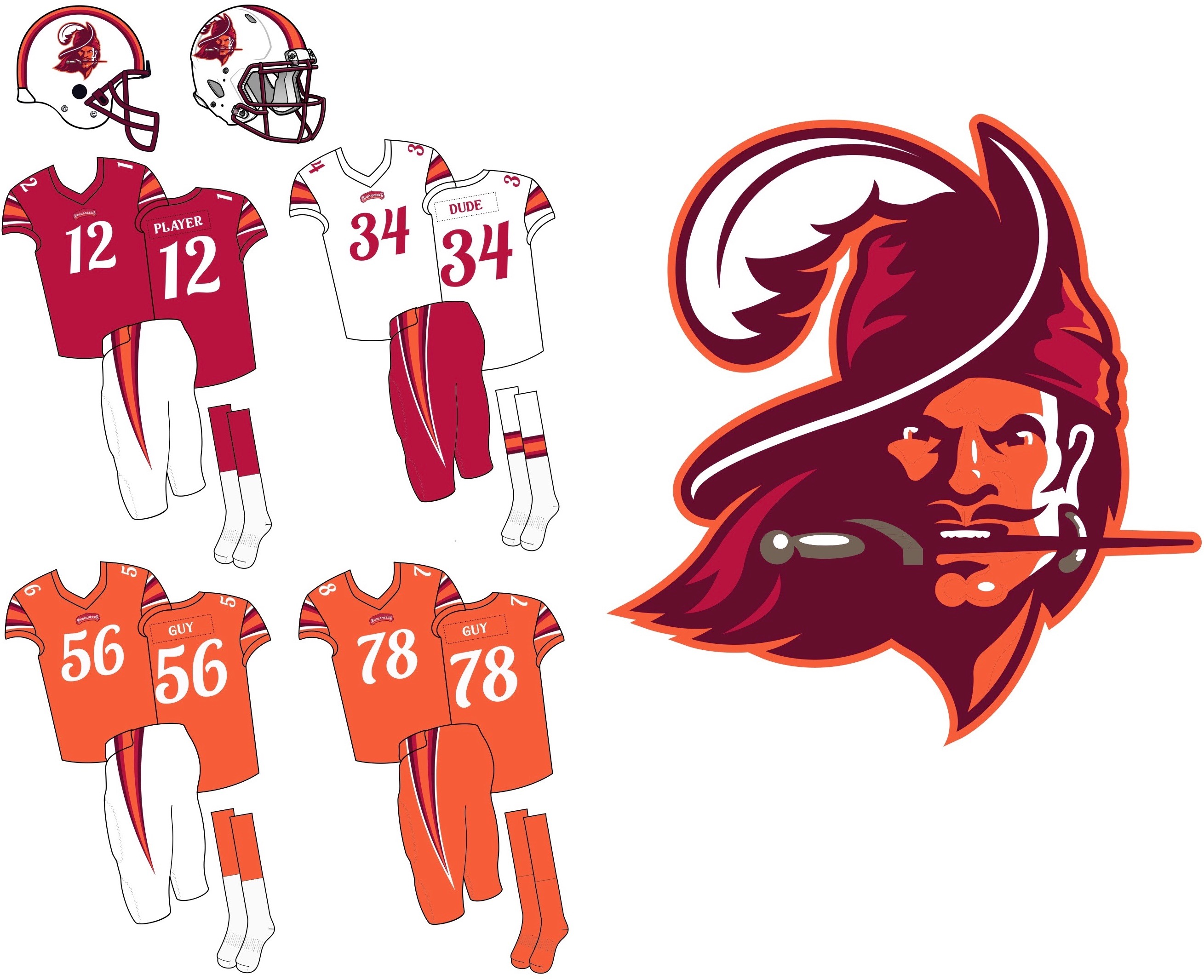 uniwatch tampa bay buccaneers redesign contest mccarthy