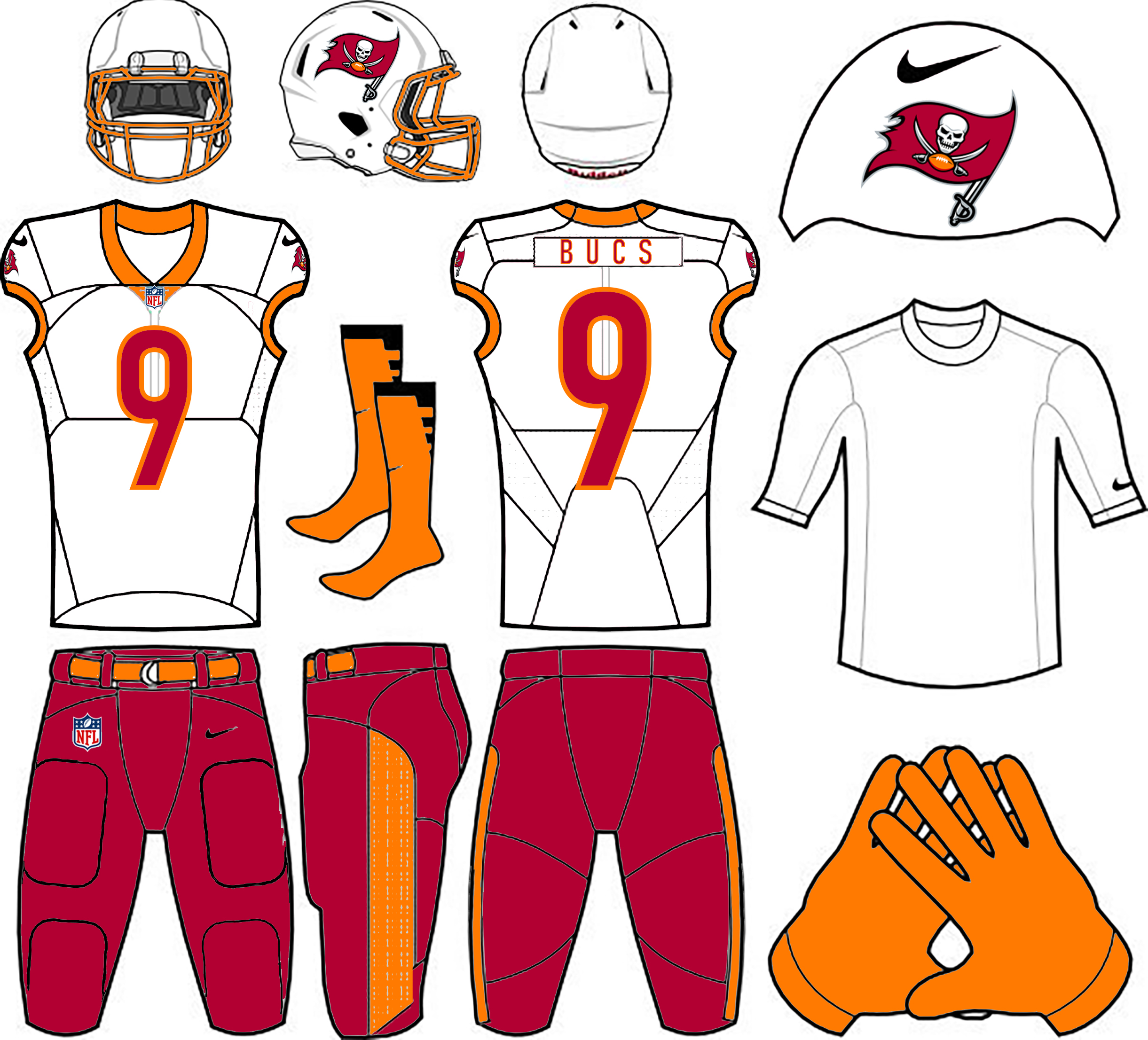 uniwatch tampa bay buccaneers redesign contest skipper